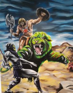 He man mural